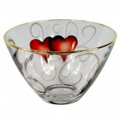 Nybro Crystal - Bowl Heart 85×140 mm guld
