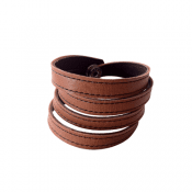 KeroBracelet leather Natur Nanna