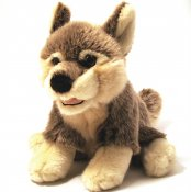Stuffed animal wolf 17 cm