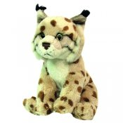 Stuffed animal lynx 15 cm