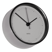 Delite clock Mogens Clausen polished stainless case