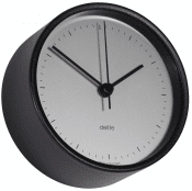 Delite clock Mogens Clausen Black Sateen