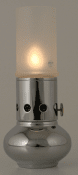Delite Ellipse kerosene lamp polished steel