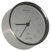 Delite Tide clock Clausen - Jessen - polished steel