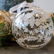 Hadeland Glassverk Christmas tree ball glass