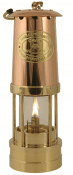 Welsh Miner´s Lamp Brass with a copper top and flat burner