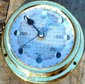 Moon Clock - 125mm - brass