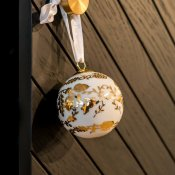 Porsgrund porcelain Christmas tree ball Julekule nordic nuts