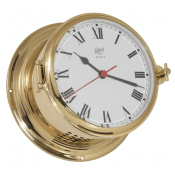 Schatz 1881 Royal 180 clock brushed brass electric