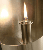 Burner with wick for Delite Wallpipe oil lamp