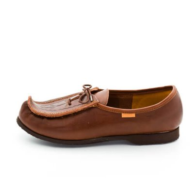Reindeer leather Norrlandskon loafers brown