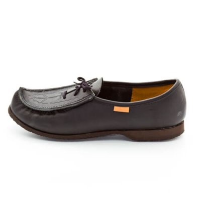 Reindeer leather Norrlandskon loafers black
