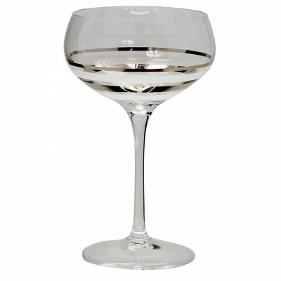 Nybro Crystal - Champagne Versailles silver 2-pack silver