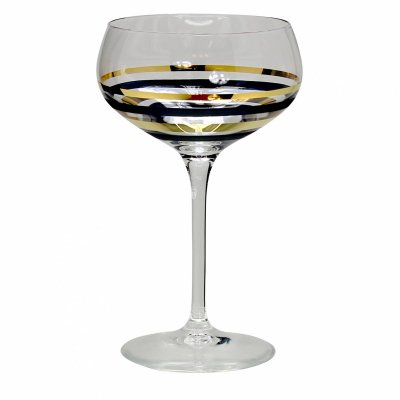 Nybro Crystal - Champagne Versailles guld 2-pack silver