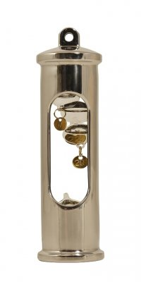 E. S. Sørensen Galileo Thermometer polished Steel
