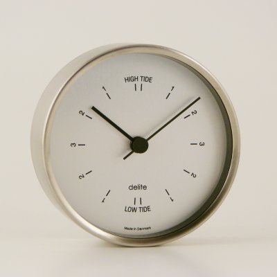 Delite Tide clock Clausen - Jessen - brushed steel