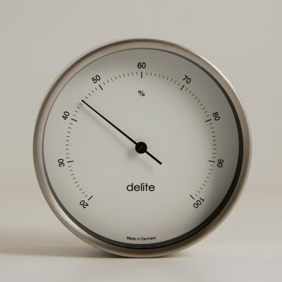 Delite Hygrometer Mogens Clausen brushed stainless steel