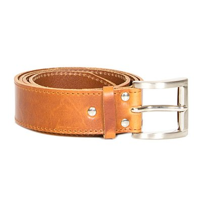Kero leather belt nature 4cm