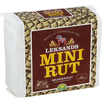 Leksands Mini rut Brungräddat 200g