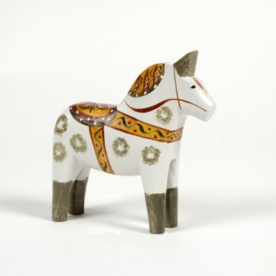 Dalahorse - Dalecarlian horse Antique 17 cm