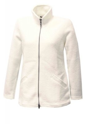 Ivanhoe of Sweden - Brodal long felted cardigan for women white