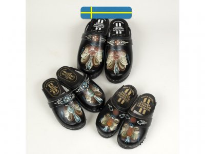 Sweden clogs hand made black