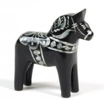 Dala horse - Dalecarlian horse 13 cm celebrate series black