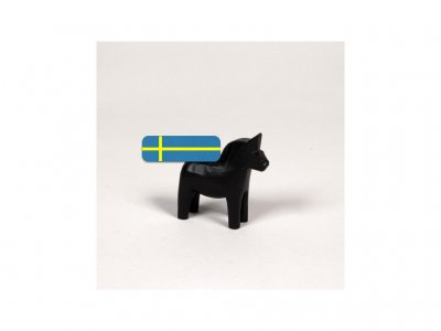 Dala horse - Dalecarlian horse one coloured 5 cm black