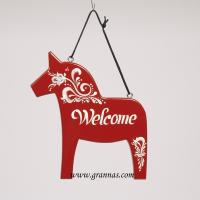 Dala horse Welcome 20 cm Red Kurbitz