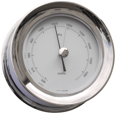Delite Zealand Barometer polished steel