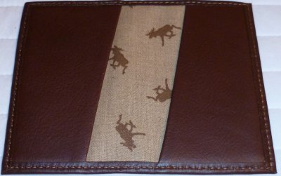 Leather of Moose Business card case hand made