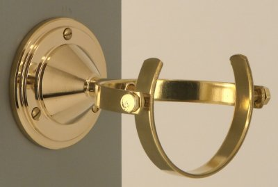 Gimballed wall mount for Welsh Miner´s Lamp Brass