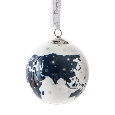 Porsgrund porcelain Christmas tree ball Globe
