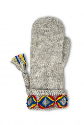 Börjesson woolen gloves Kangos for women light grey