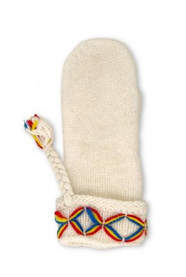 Börjesson woolen gloves Kangos for women white