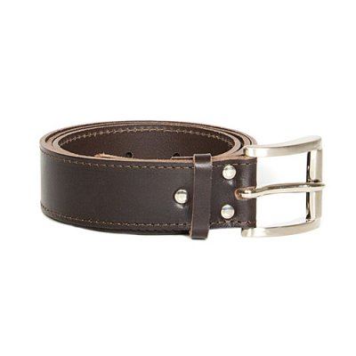 Kero leather belt brown 4cm