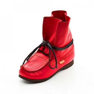 Reindeer shoes Blötnäbb Red incl. Kero leather dubbin