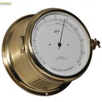 Schatz 1881 Royal 180 Hygrometer brushed brass