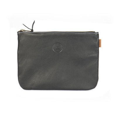 Wallet Leather of Reindeer Viggo 21 x 15 cm black