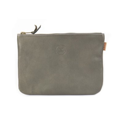 Wallet Leather of Reindeer Viggo 21 x 15 cm grey