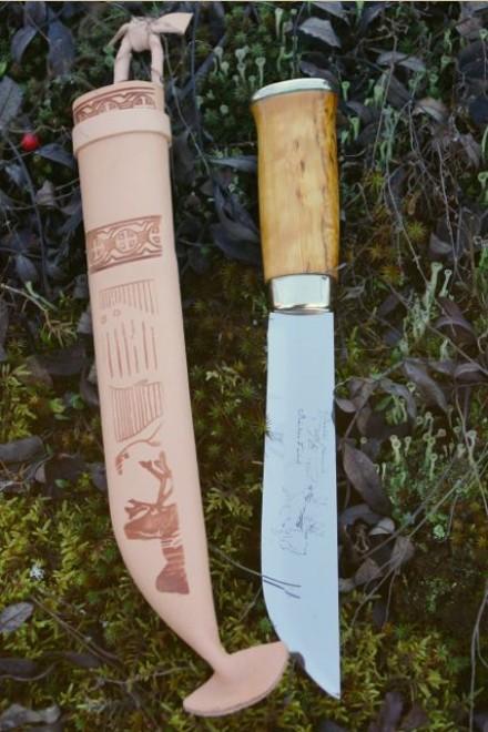 Iisakki Järvenpää Lapland knife Poromiehen Leuku
